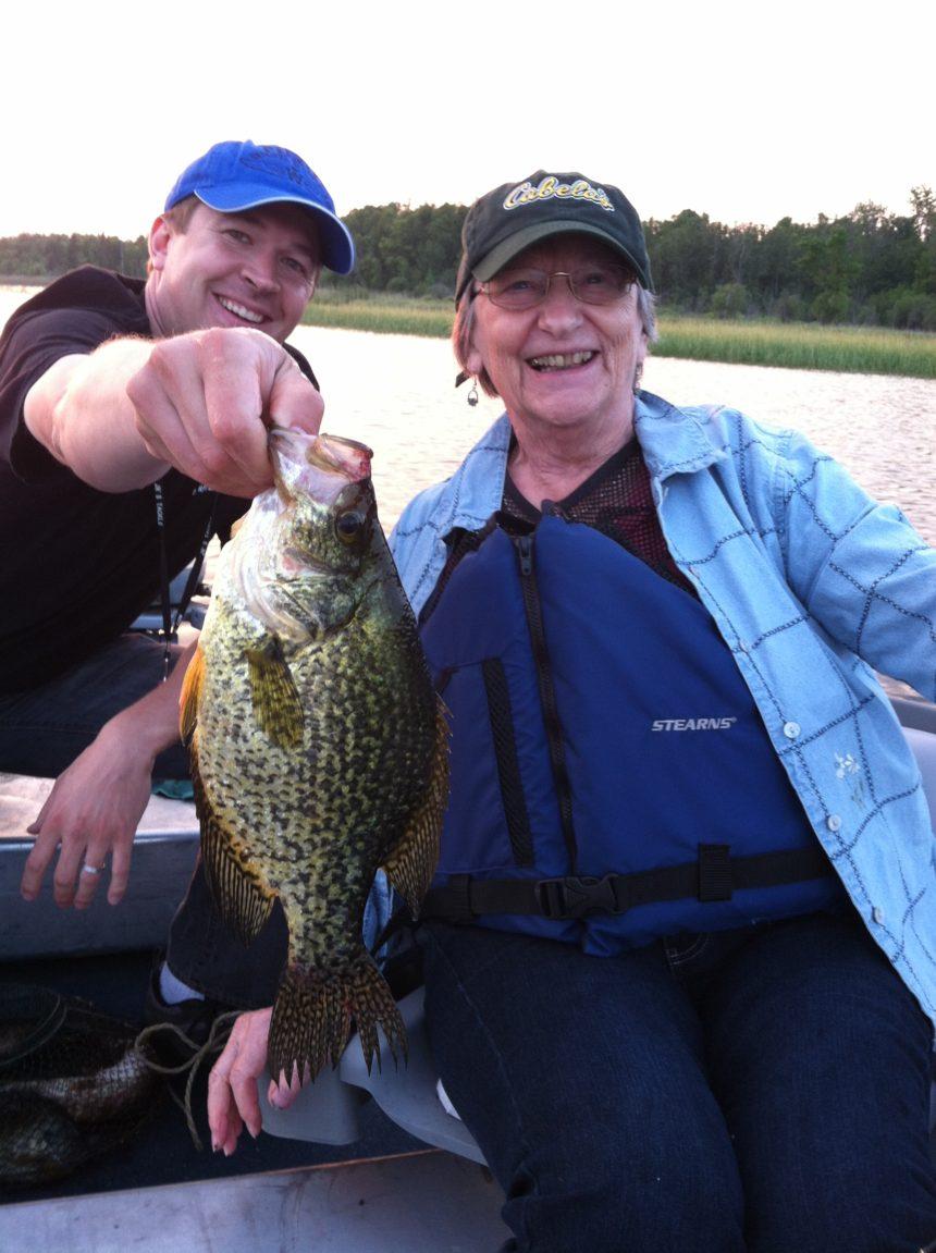 Grandma catching a sunny