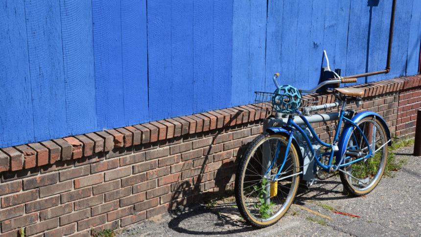 Downtown Bemidji Blue Bicycle