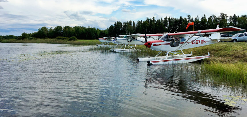 Float planes at Moberg's