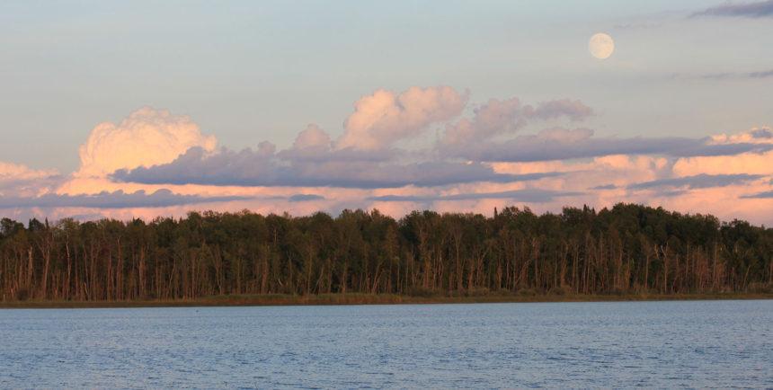 sunset-moon-lake